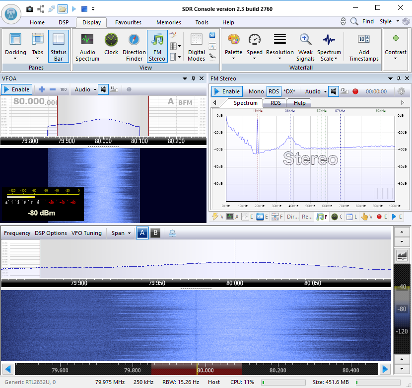 SDR Console and RTL-SDR – Spinor Lab