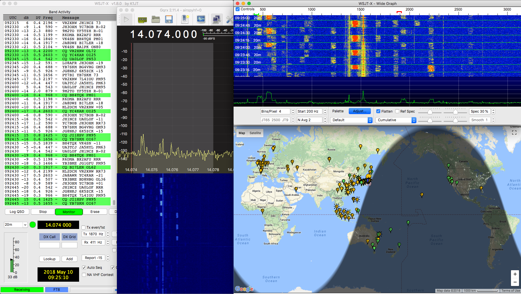 Airspy HF+ and FT8 – Spinor Lab
