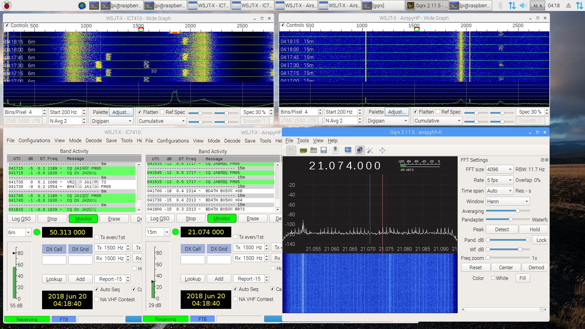 Airspy HF+, IC-7410, and Raspberry Pi 3 – Spinor Lab