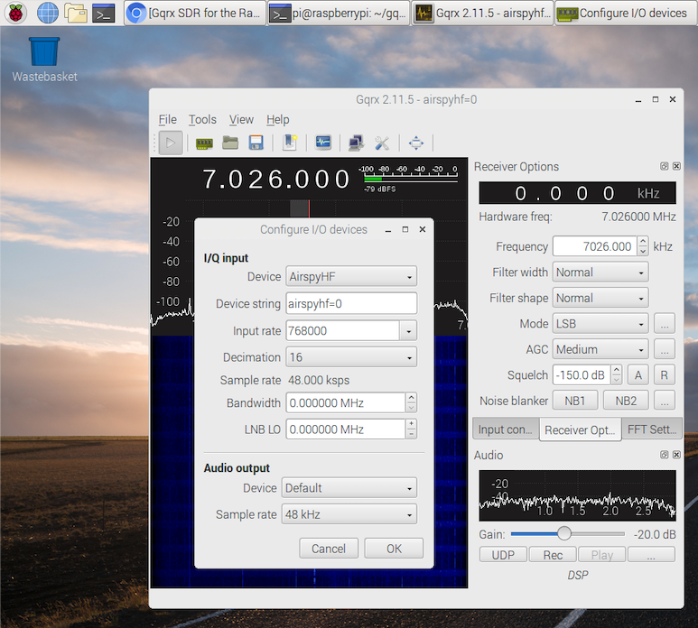 Airspy HF+とRaspberry Pi 3を最初から – Spinor Lab