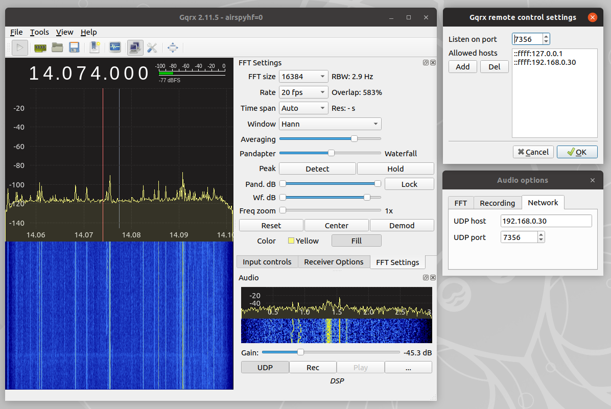 UDP audio stream from Gqrx (5) – Spinor Lab